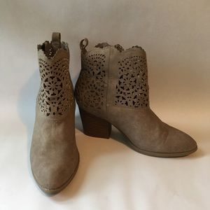 Sugar Brand Cut Out Tan Ankle Boots